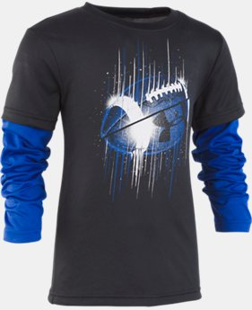 New Arrival Boys' Toddler UA Midair Football Slider Long Sleeve  1  Color Available $28
