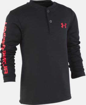 Boys' Pre-School UA MVP Henley Long Sleeve Shirt  1  Color Available $29