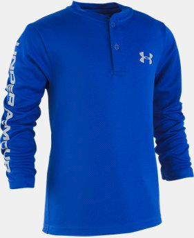 New Arrival Boys' Pre-School UA MVP Henley Long Sleeve Shirt  1  Color Available $29
