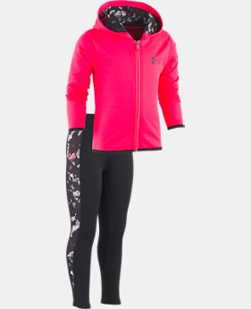 Girls' Toddler UA Black Shattered Set LIMITED TIME ONLY 1  Color Available $32.2