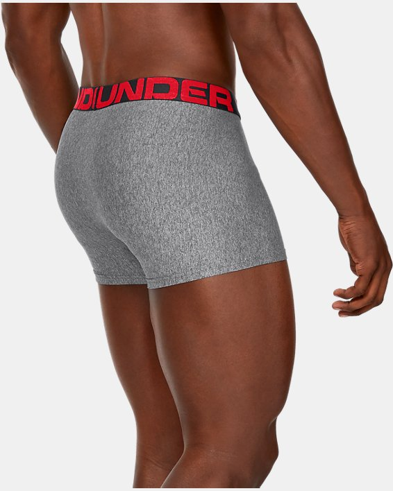 "Men's UA Tech™ 3"" Boxerjock®, Gray, pdpMainDesktop image number 1"