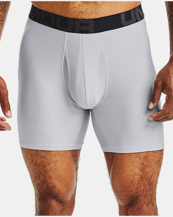 "Men's UA Tech™ 6"" Boxerjock®, Gray, pdpMainDesktop image number 0"
