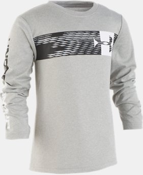 New Arrival Boys' Pre-School UA Travel Logo Long Sleeve  2  Colors Available $23