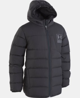 New Arrival Boys' Toddler UA Swarmdown Hooded Jacket   1  Color Available $100