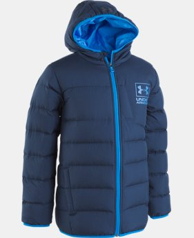 New Arrival  Boys' UA Swarmdown Hooded Jacket   2  Colors Available $135