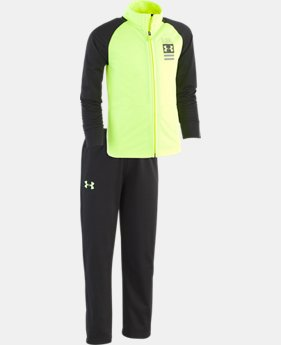 New Arrival Boys' Pre-School UA On The Mark Track Set   3  Colors Available $40