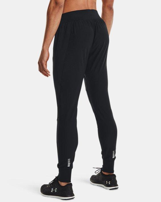 Women's UA Qualifier Speedpocket Pants, Black, pdpMainDesktop image number 2