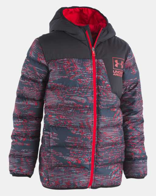 Boys' Toddler UA Printed Swarmdown Hooded Jacket