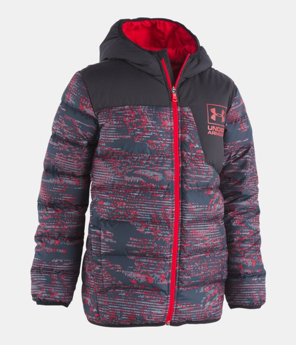 3be24af4ab Boys' Pre-School UA Printed Swarmdown Hooded Jacket