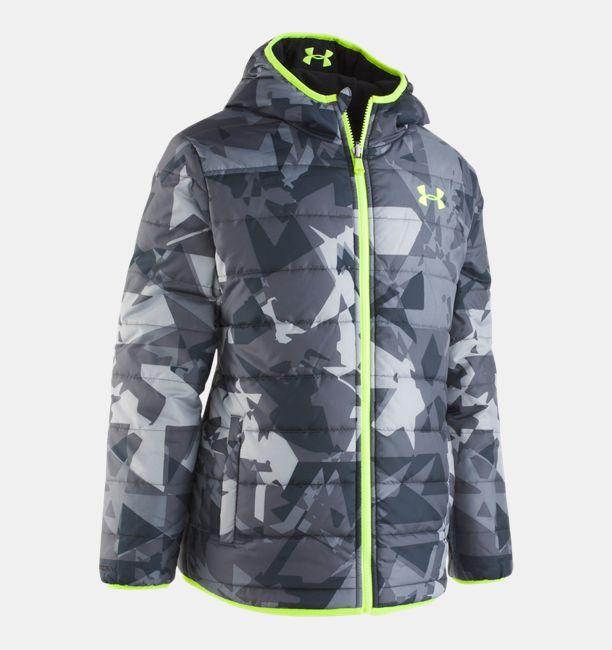 Boys' Toddler UA Printed Reversible Pronto Puffer Jacket