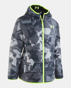 Boys  Toddler UA Printed Reversible Pronto Puffer Jacket 1 Color Available   63.75 5fd231cea