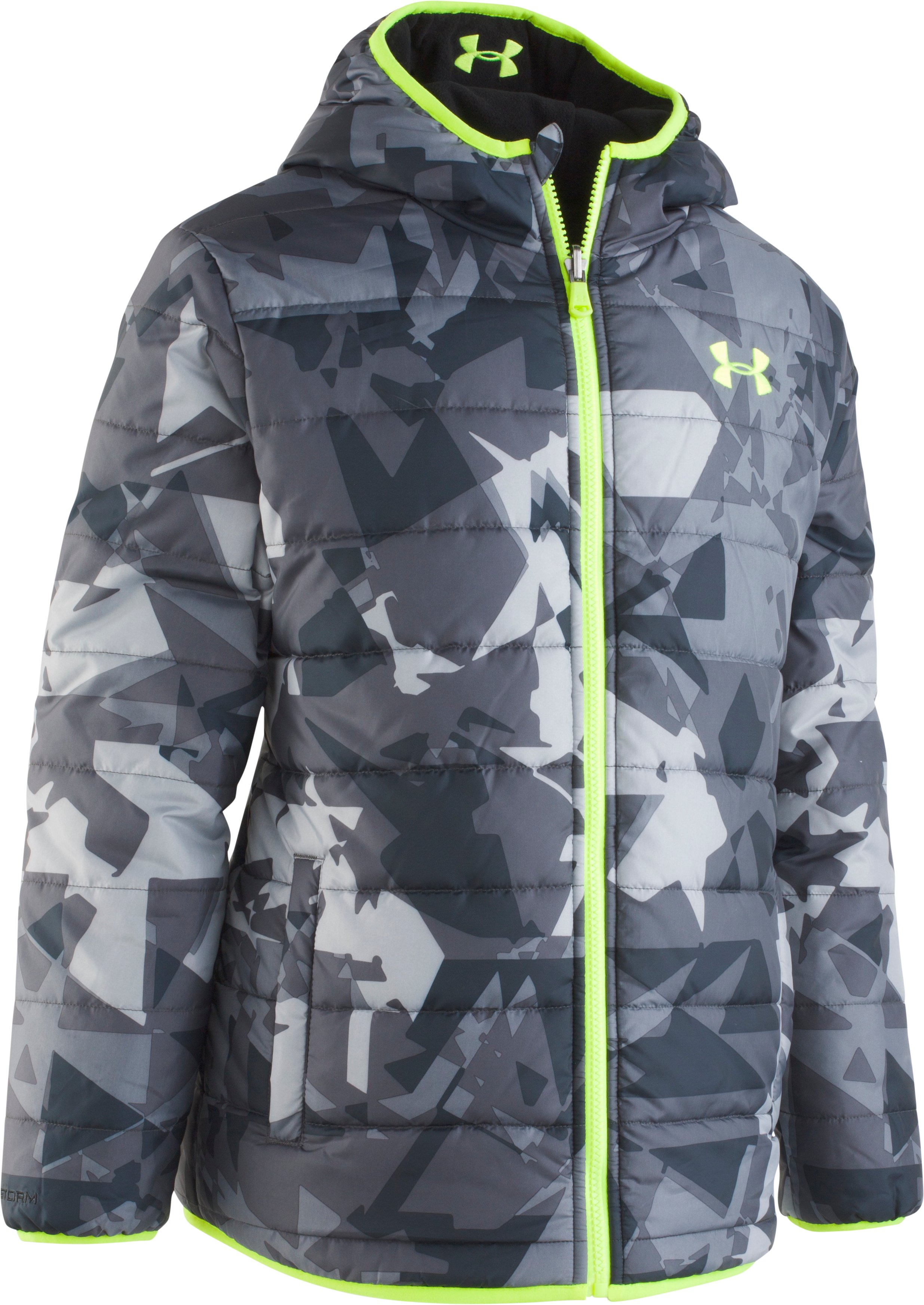 puffer jackets for kids Boys' UA Printed Reversible Pronto Puffer Jacket