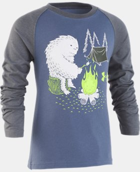 New Arrival  Boys' Pre-School UA Yeti Camping Raglan Long Sleeve  1  Color Available $27