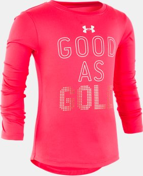 New Arrival Girls' Toddler UA Good As Gold Long Sleeve  1  Color Available $25