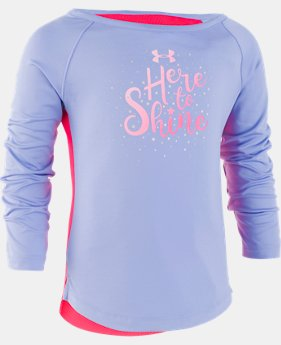 New Arrival Girls' Pre-School UA Here To Shine Long Sleeve  1  Color Available $30