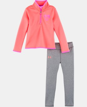 Girls' Toddler UA Heartbeat Track Set LIMITED TIME ONLY 1  Color Available $28