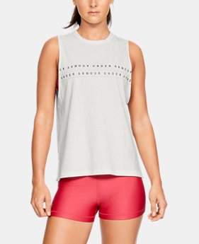f380b2ad60220 New to Outlet Women s UA Graphic WM Muscle Tank 3 Colors Available  18.99