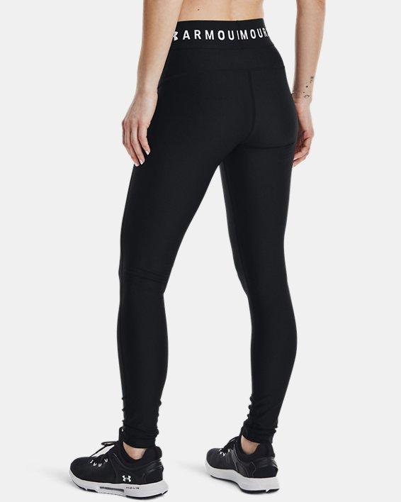 Women's HeatGear® Armour Branded WB Leggings, Black, pdpMainDesktop image number 2