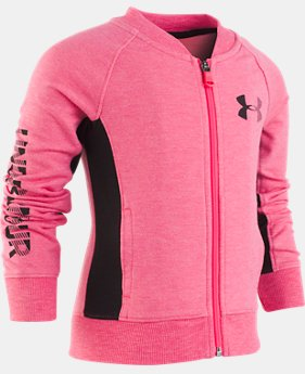New Arrival Girls' Pre-School UA Elevated Bomber Jacket  1  Color Available $38