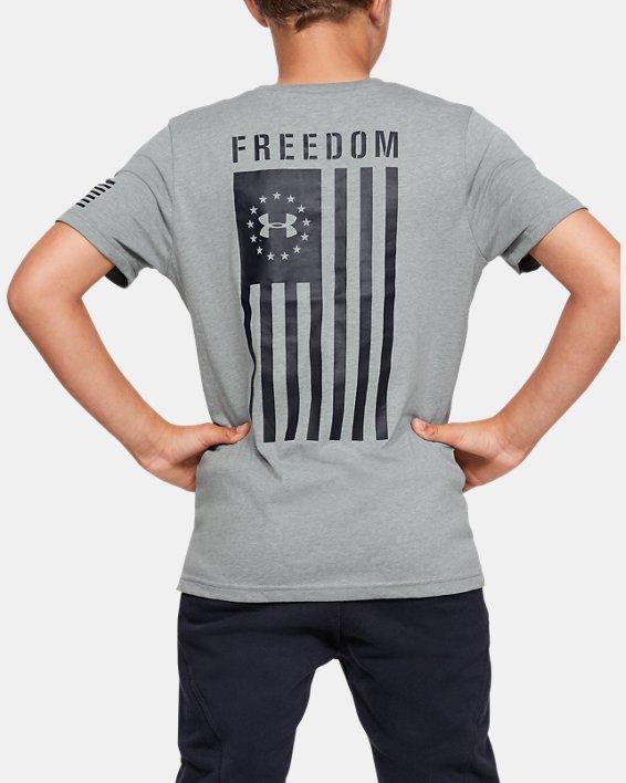 Boys' UA Freedom Flag T-Shirt, Gray, pdpMainDesktop image number 2