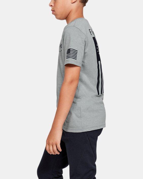 Boys' UA Freedom Flag T-Shirt, Gray, pdpMainDesktop image number 3