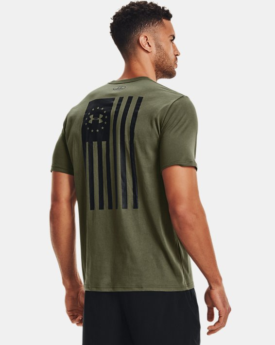 Men's UA Freedom Flag Bold T-Shirt, Green, pdpMainDesktop image number 2