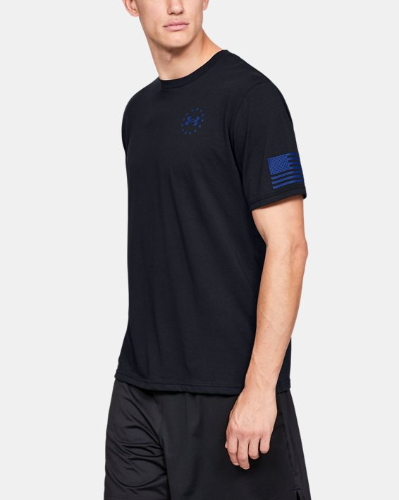 Men's UA Freedom Express T-Shirt, Black, pdpMainDesktop image number 0
