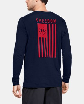 62b64d1a25dc Men's UA Freedom Flag Long Sleeve T-Shirt 3 Colors Available $30