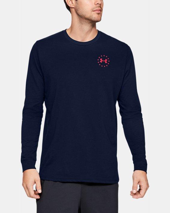 Men's UA Freedom Flag Long Sleeve T-Shirt, Navy, pdpMainDesktop image number 0