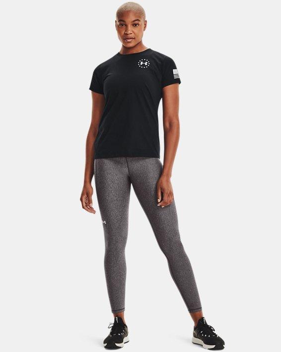 Women's UA Freedom Flag T-Shirt, Black, pdpMainDesktop image number 1