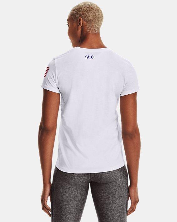Women's UA Freedom Logo T-Shirt, White, pdpMainDesktop image number 2