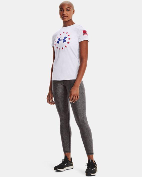 Women's UA Freedom Logo T-Shirt, White, pdpMainDesktop image number 1