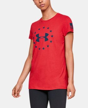 0e64b53a Women's UA Freedom Logo T-Shirt 1 Color Available $25