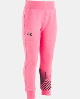 New Arrival  Girls' Pre-School UA Plush Joggers  1  Color Available $35