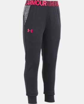 New Arrival Girls' Pre-School UA Tech™ Wordmark Pants  2  Colors Available $30