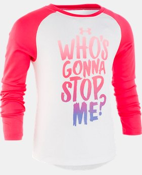 New Arrival Girls' Toddler UA Who's Gonna Stop Me Long Sleeve  1  Color Available $25