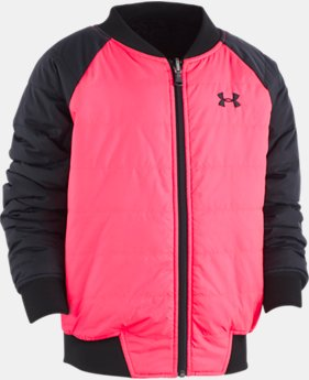 New Arrival  Girls' UA Reversible Bomber Jacket  1  Color Available $82