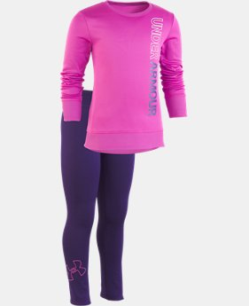 New Arrival  Girls' Pre-School UA Wordmark Tunic Set  2  Colors Available $47