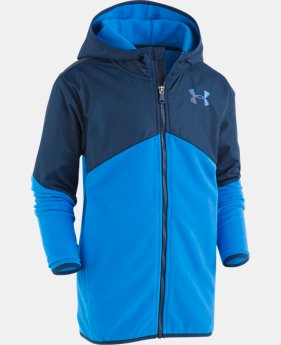 New Arrival Boys' Pre-School UA North Rim Microfleece Jacket  4  Colors Available $46