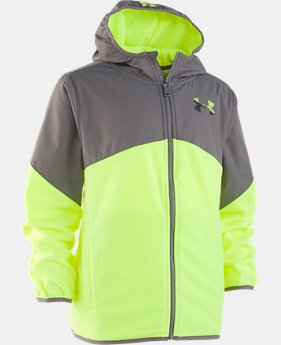 New Arrival Boys' Pre-School UA North Rim Microfleece Jacket  1  Color Available $46