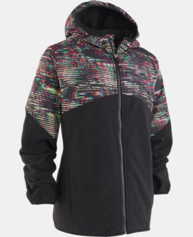 Boys' UA Printed North Rim Microfleece Jacket   2  Colors Available $49