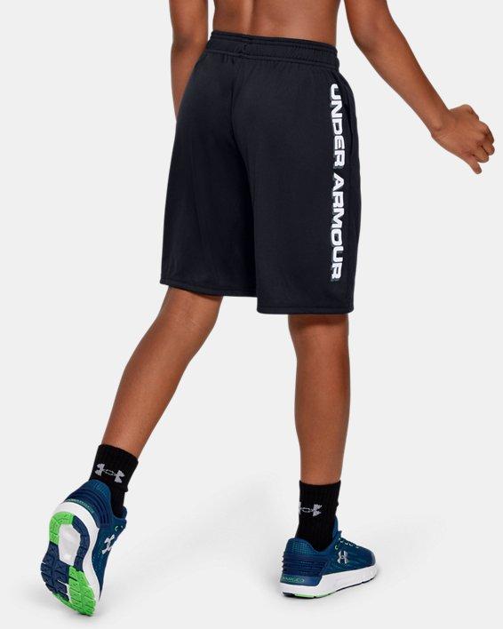 Boys' UA Prototype Wordmark Shorts, Black, pdpMainDesktop image number 2