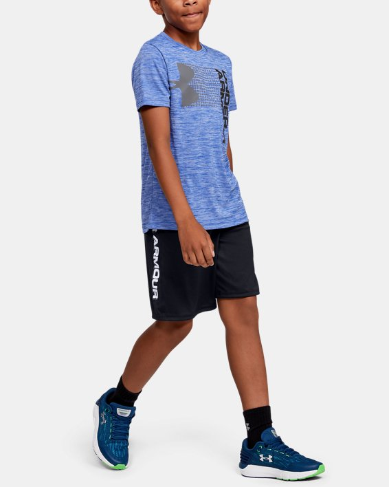 Boys' UA Prototype Wordmark Shorts, Black, pdpMainDesktop image number 1