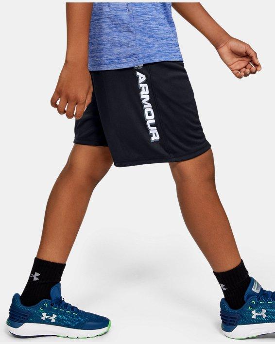 Boys' UA Prototype Wordmark Shorts, Black, pdpMainDesktop image number 3