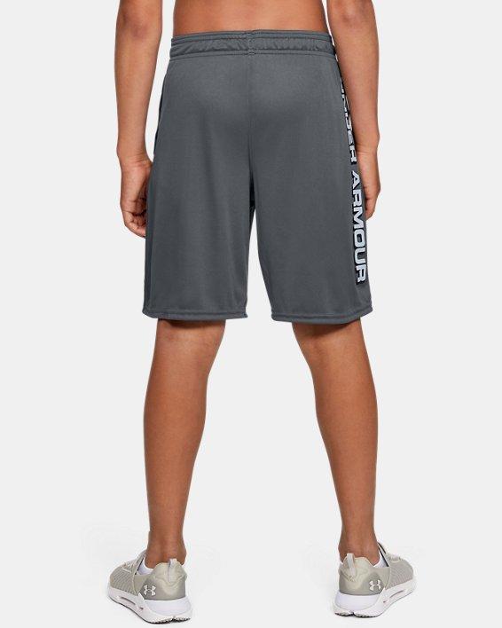 Boys' UA Prototype Wordmark Shorts, Gray, pdpMainDesktop image number 2