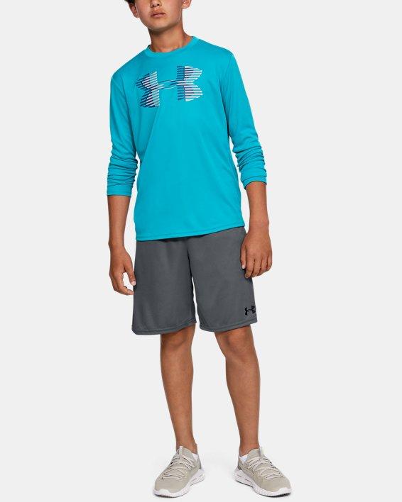 Boys' UA Prototype Wordmark Shorts, Gray, pdpMainDesktop image number 1