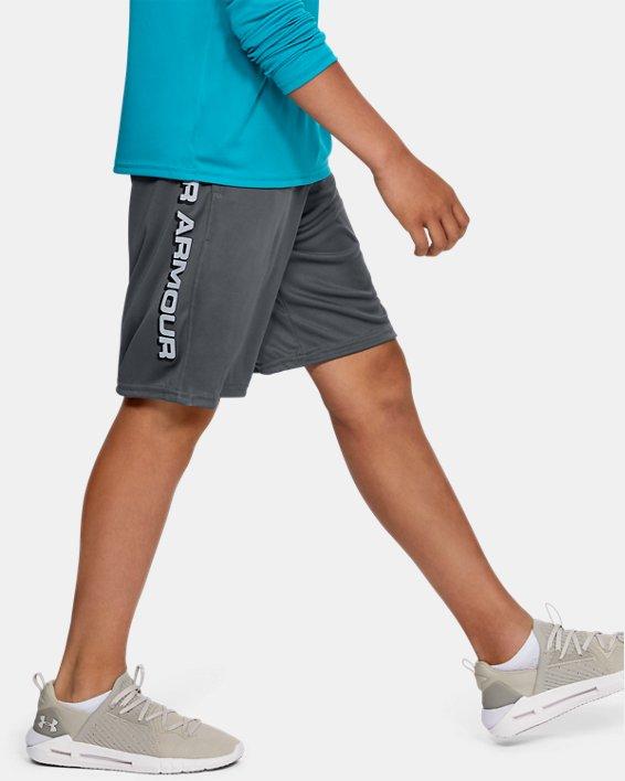 Boys' UA Prototype Wordmark Shorts, Gray, pdpMainDesktop image number 3