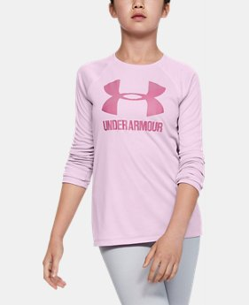 996978ae9a05 New Arrival Girls' UA Big Logo Long Sleeve Shirt 1 Color Available $25