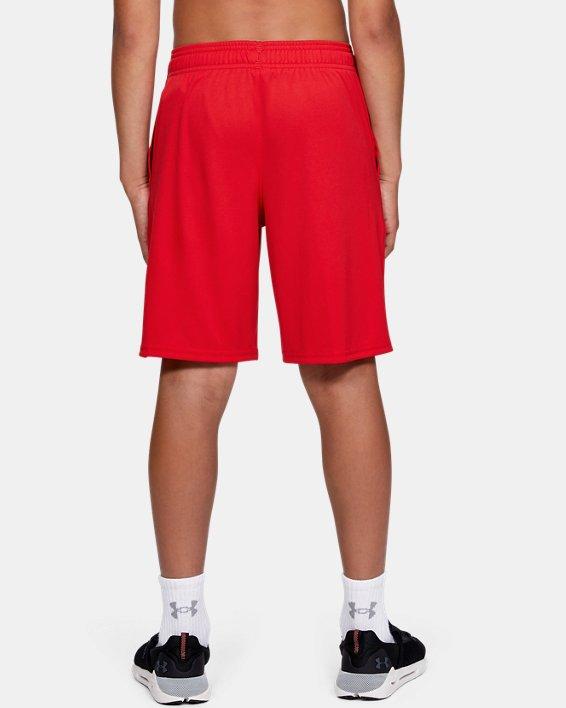 Boys' UA Prototype Logo Shorts, Red, pdpMainDesktop image number 2