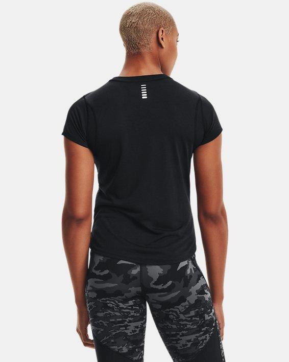 T-shirt à manches courtes UA Streaker pour femme, Black, pdpMainDesktop image number 2